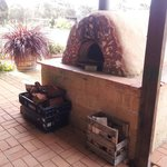 Pizza oven in barbeque area