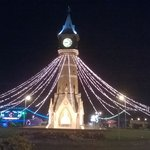 skeggy tower at night