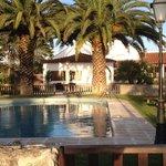 uitzicht op quinta en zwembad