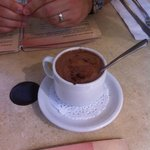 Chocolat chaud au chocolat noir