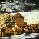Chicken Souvlaki Main Course - Yummy!