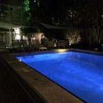 Alexander's pool and hot tub area