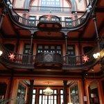 Le hall d'entrée de l'hôtel restaurant