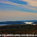 "View of ""The Pass"" as seen from atop Soapstone Hill in Petersham, MA inside the Quabbin Reservoi"