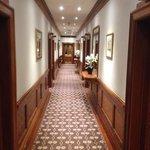 the hotel hallway