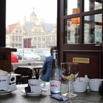 coffee with a view over Grote Markt