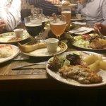 Cena di viaggio a base di carne