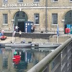 Action stations during a sci fi exhibition (note a Tardis).  You can see the boats in the water