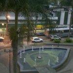 Vista da praça Inconfidencia, do 2° andar do hotel