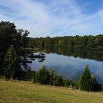 The lake.