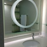 Circle is a magnification mirror. Never have seen this feature in a hotel.