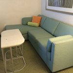 Fold out sofa and chaise.