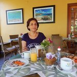 Área externa do café-da-manhã (ao lado da área interna do café)