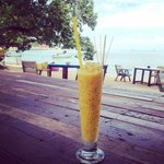 Delicious passion fruit shake