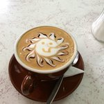 A beautifully presented Flat White Coffee
