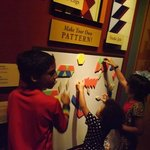 Kids playing on one of the interactive exhibits!