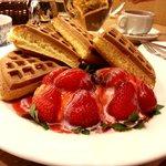 Melange's signature waffle