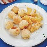 Cheese balls. Amazing. Fried yuca.