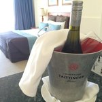 chilled bubbles on arrival