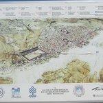 Карта Иераполиса и Травертин Памуккале