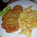 The best pork schnitzel in Kampot.