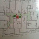 Схема номеров третьего этажа