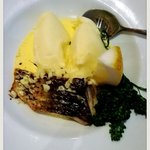 One of the specials - barramundi with mash and beurre blanc.