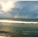 Rainbow at Sapphire Beach.