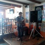 Tom Connibear playing on a Sunday lunchtime
