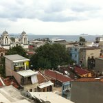 View of Sea of Marmara over many rooftops