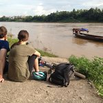 waiting for the ferry to cross the river