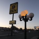 Street lamp sign view