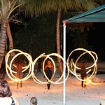 Fire Dancers - one of the many activities at night for guests