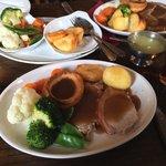 Sunday Roast pork lunch. Nice!