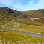 Panorama della strada tra Urdele Pass e Ranca
