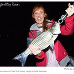 Striper Fishing, Mockingbird Bay Resort, on Norfork Lake, Arkansas