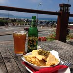 Green Goblin Cider & cheese Nachos with jalapeno's