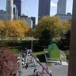 Great views of the city and the outdoor exhibits.