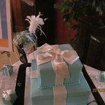 Bridal shower cake display