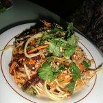 Salade Papaye, Mangue et Boeuf séché
