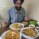 Davinder showing us foodz