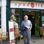 Spud u like with Roman soldier figure outside.