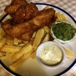 Fish & Chip with minted mushy peas