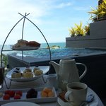 tea time at balcony