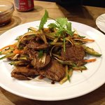 excellent service, nice marinated beef salad, dumplings were fine but not as expected.