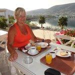 super om hier te onbijten! het uitzicht alleen al!