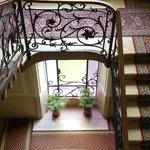 Lovely art nouveau antique hallways of the hotel!