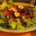 Shredded horsemeat salad with truffles