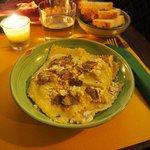 Pecorino ravioli with truffles