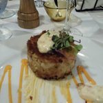 Very large crab cake appetizier